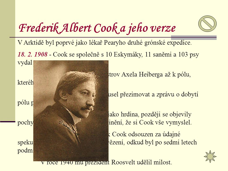 Frederik Albert Cook a jeho verze