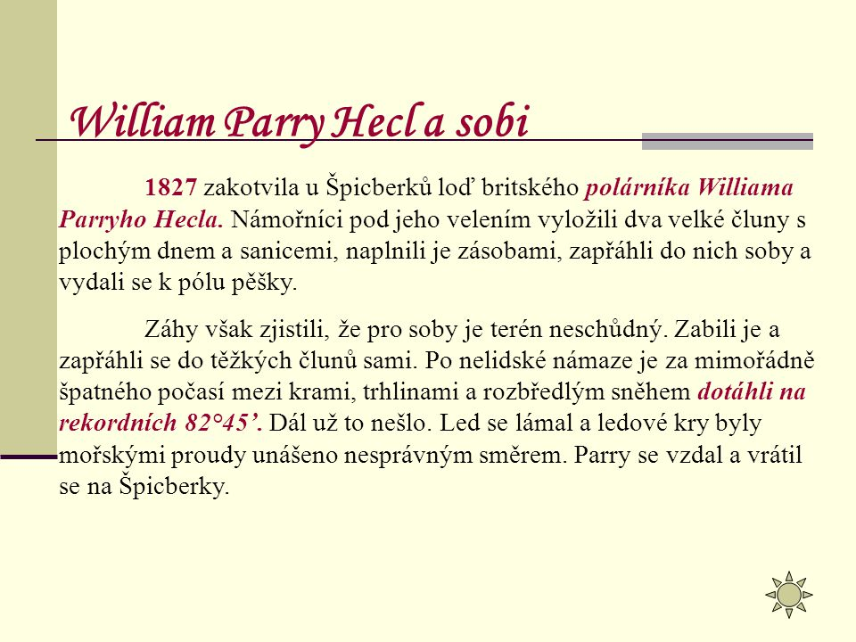 William Parry Hecl a sobi