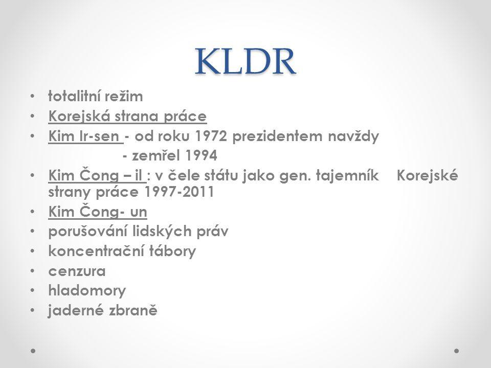KLDR totalitní režim Korejská strana práce