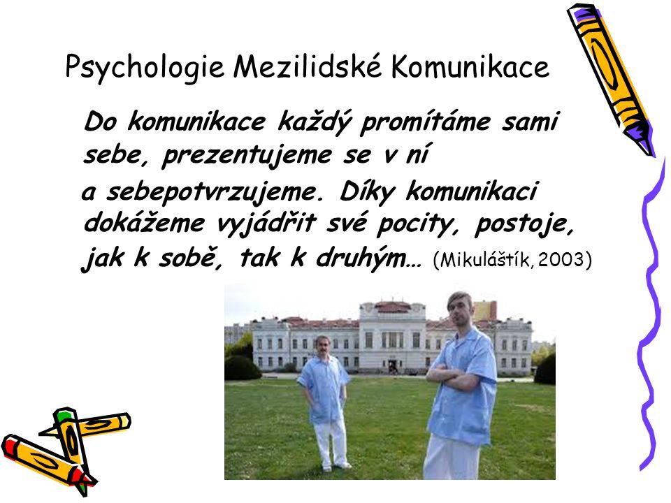 Psychologie Mezilidské Komunikace