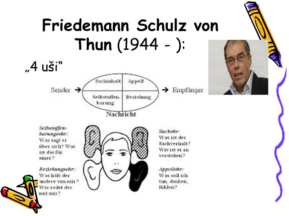Friedemann Schulz von Thun (1944 - ):