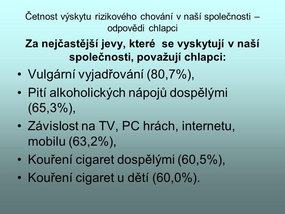 Vulgární vyjadřování (80,7%),