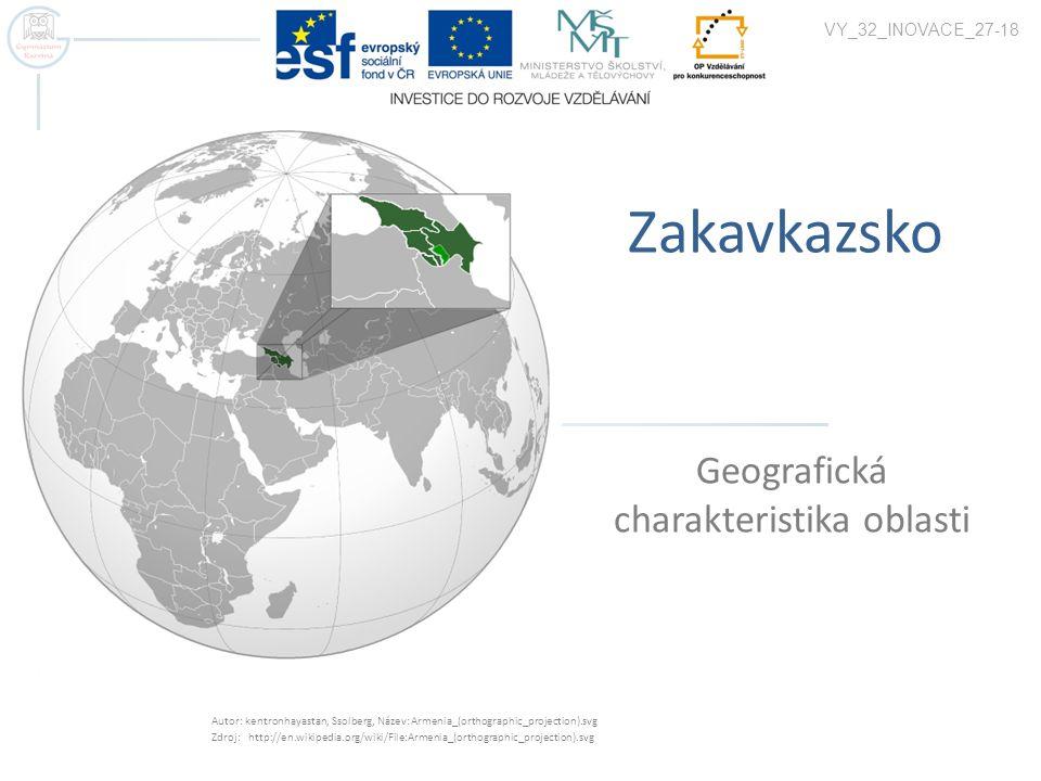 Geografická charakteristika oblasti