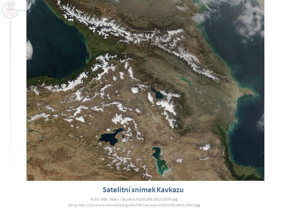 Satelitní snímek Kavkazu