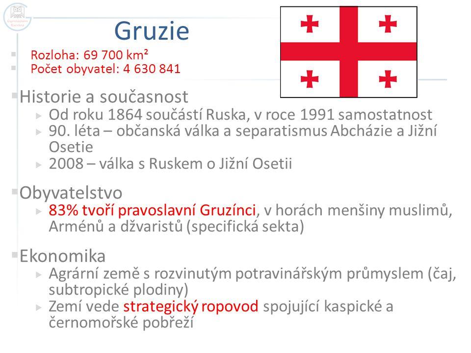 Gruzie Historie a současnost Obyvatelstvo Ekonomika