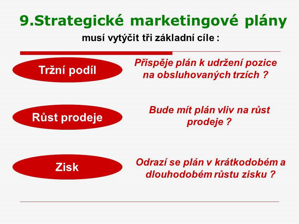 9.Strategické marketingové plány