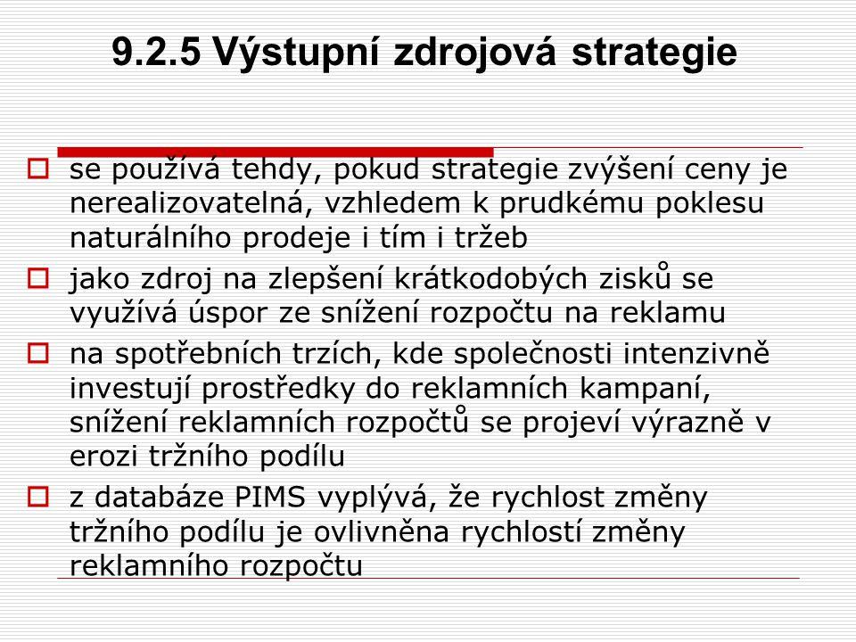 9.2.5 Výstupní zdrojová strategie