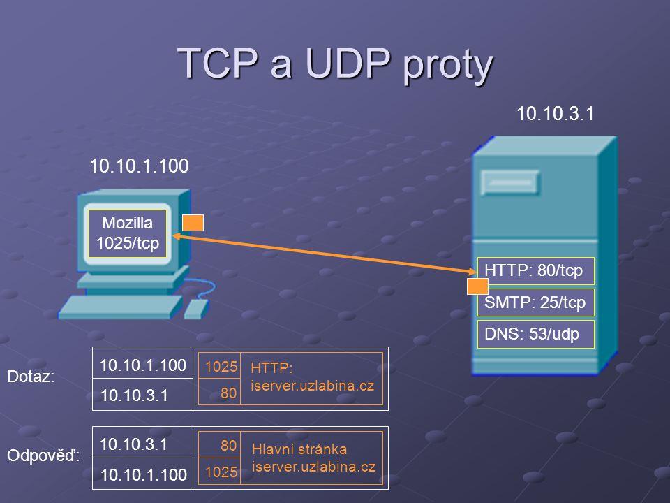 TCP a UDP proty 10.10.3.1 10.10.1.100 Mozilla 1025/tcp HTTP: 80/tcp