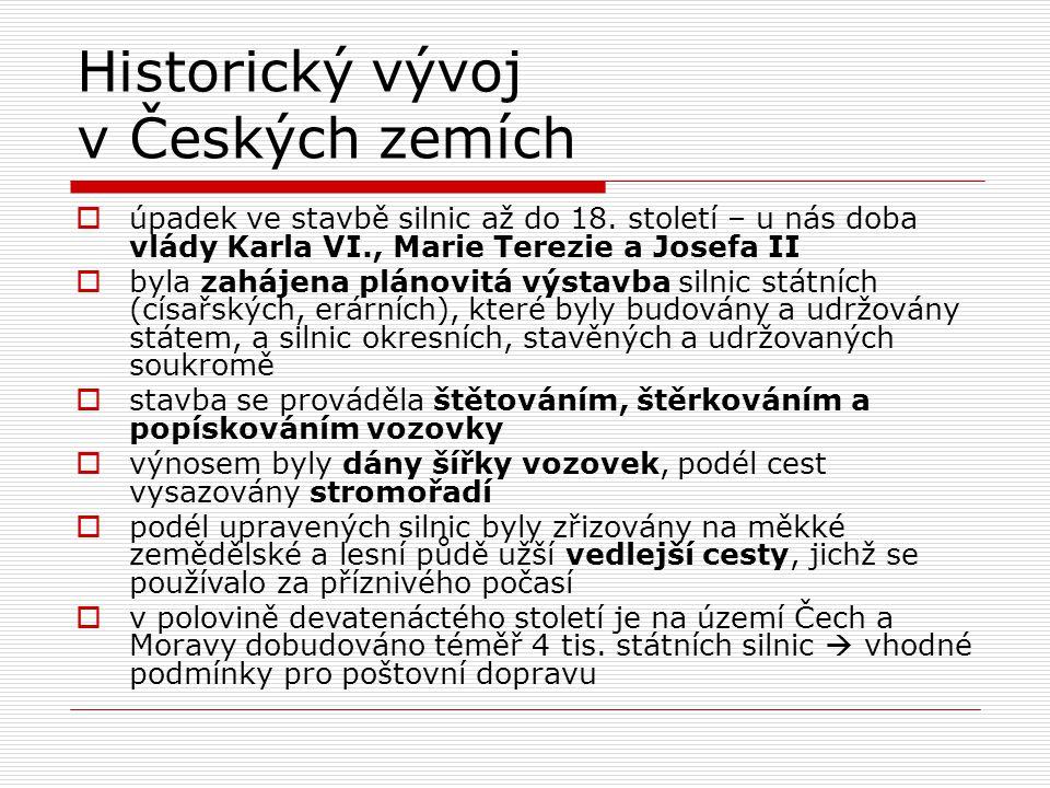Historický vývoj v Českých zemích