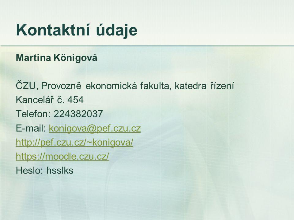 Kontaktní údaje Martina Königová