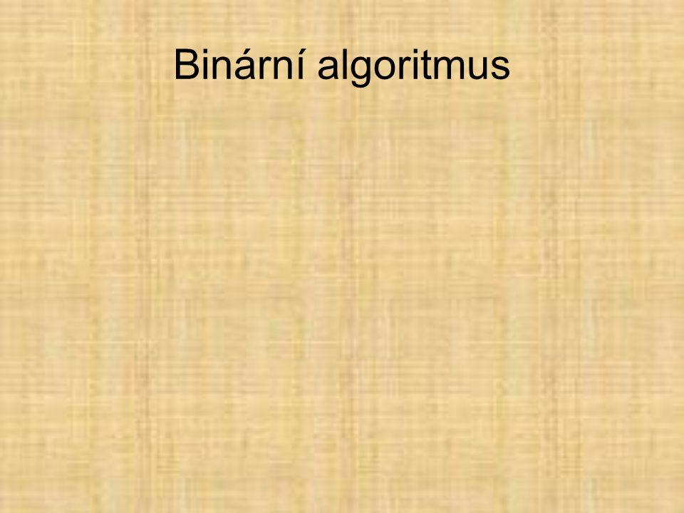 Binární algoritmus