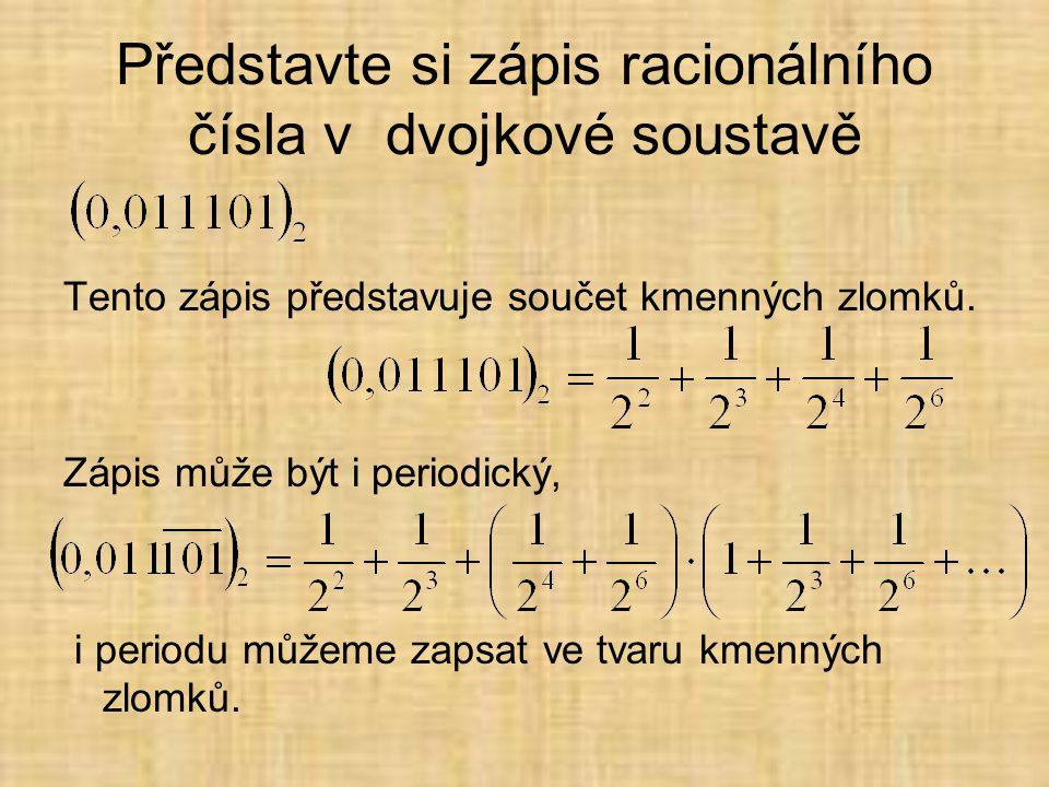 Představte si zápis racionálního čísla v dvojkové soustavě