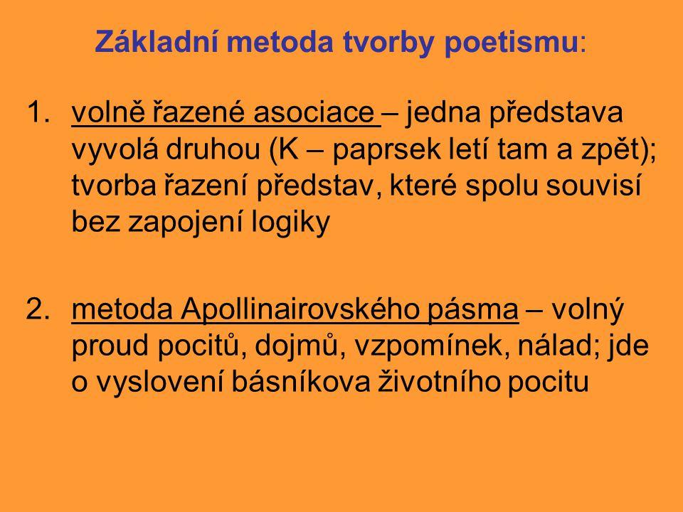 Základní metoda tvorby poetismu: