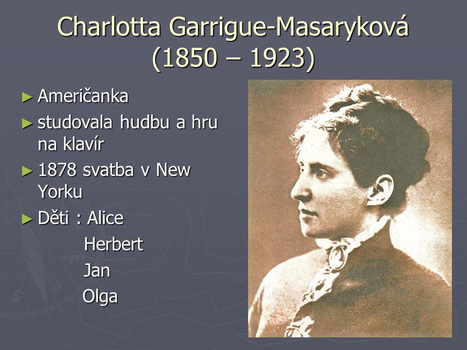 Charlotta Garrigue-Masaryková (1850 – 1923)