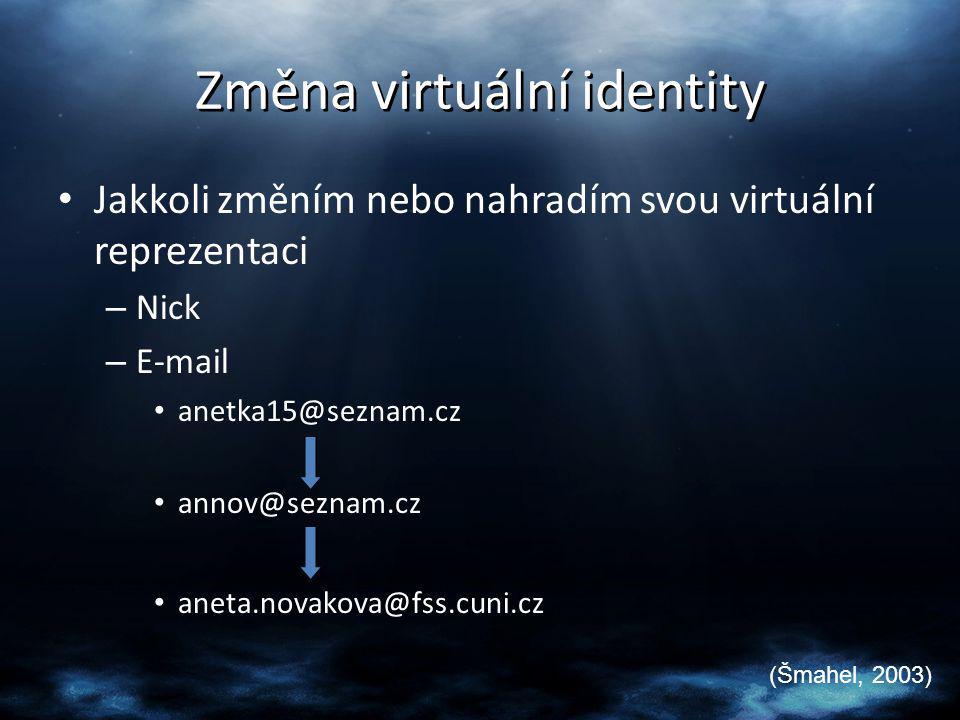 Změna virtuální identity
