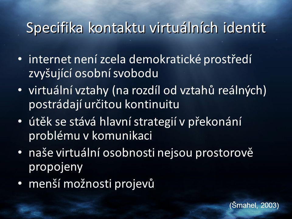 Specifika kontaktu virtuálních identit