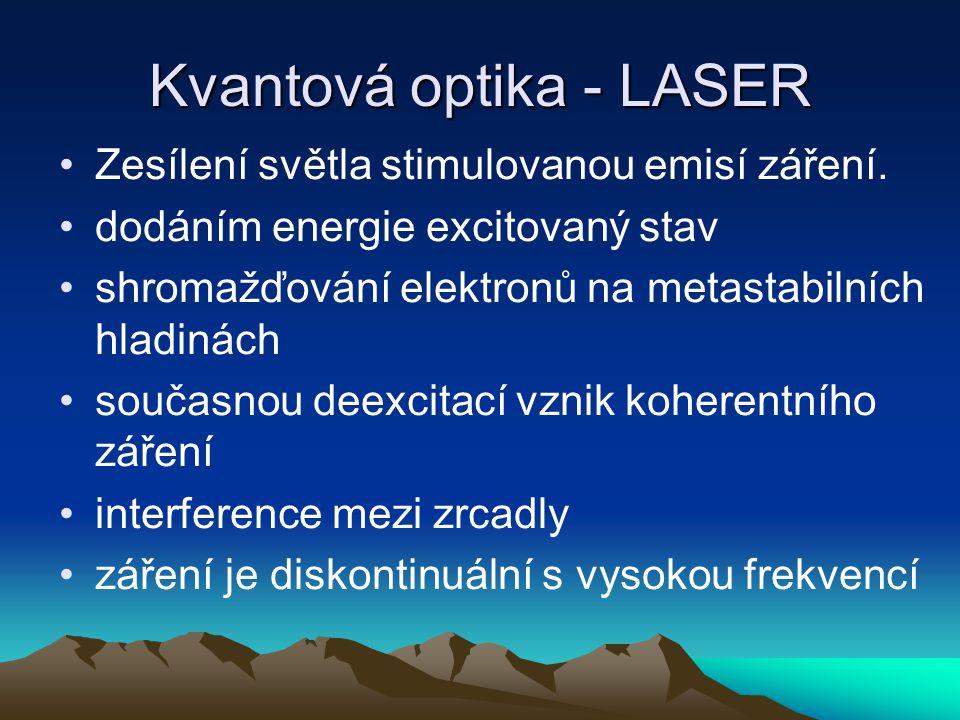 Kvantová optika - LASER