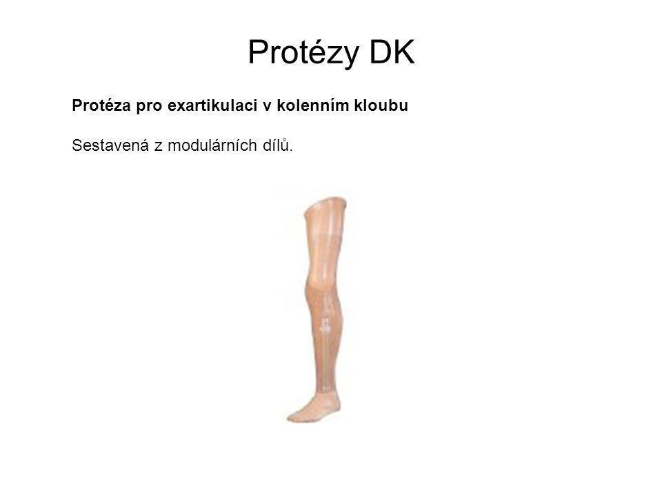 Protézy DK Protéza pro exartikulaci v kolenním kloubu