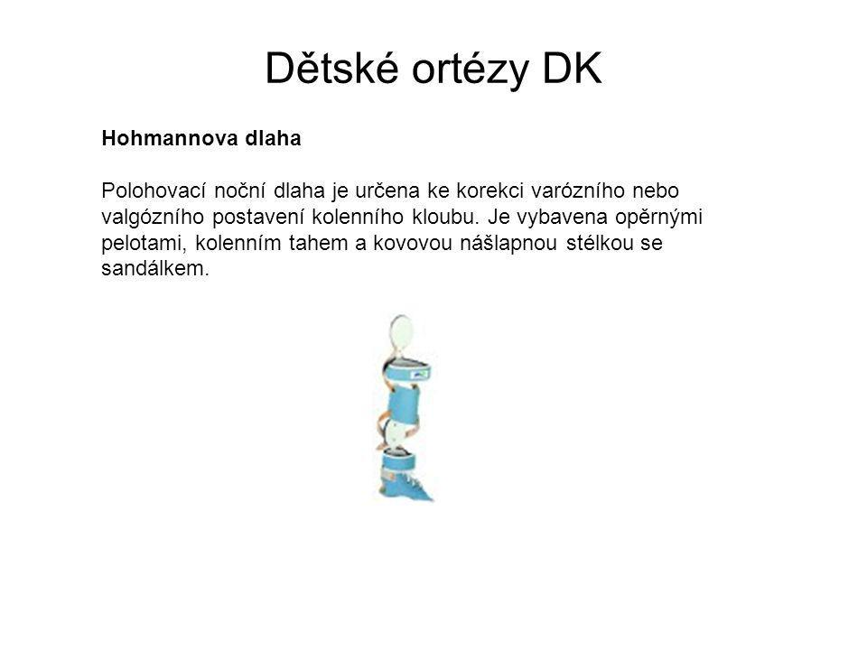 Dětské ortézy DK