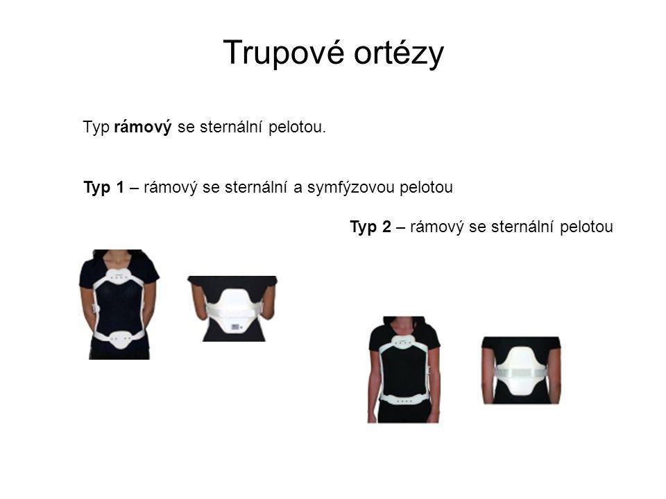 Trupové ortézy Typ rámový se sternální pelotou.