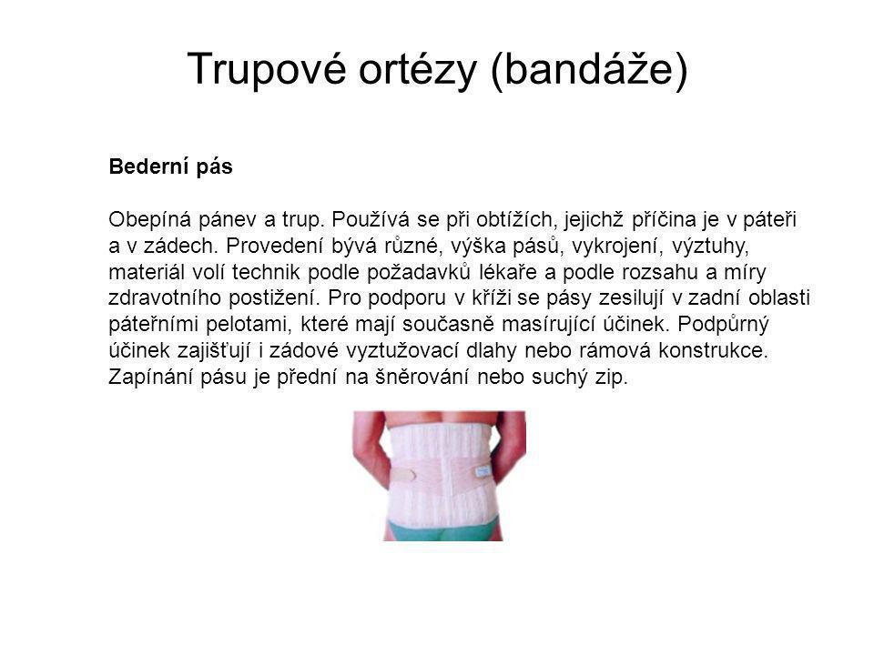Trupové ortézy (bandáže)