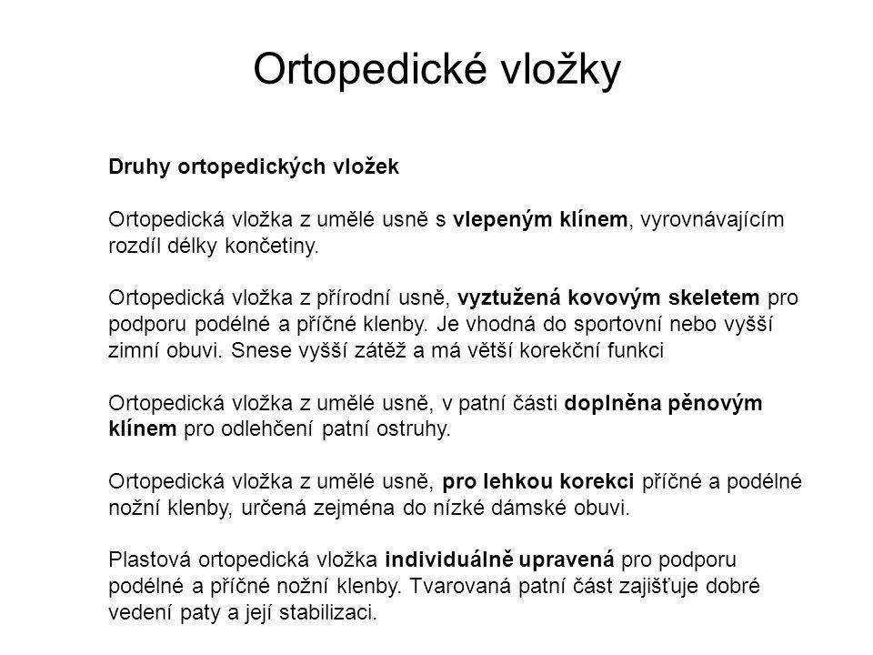 Ortopedické vložky