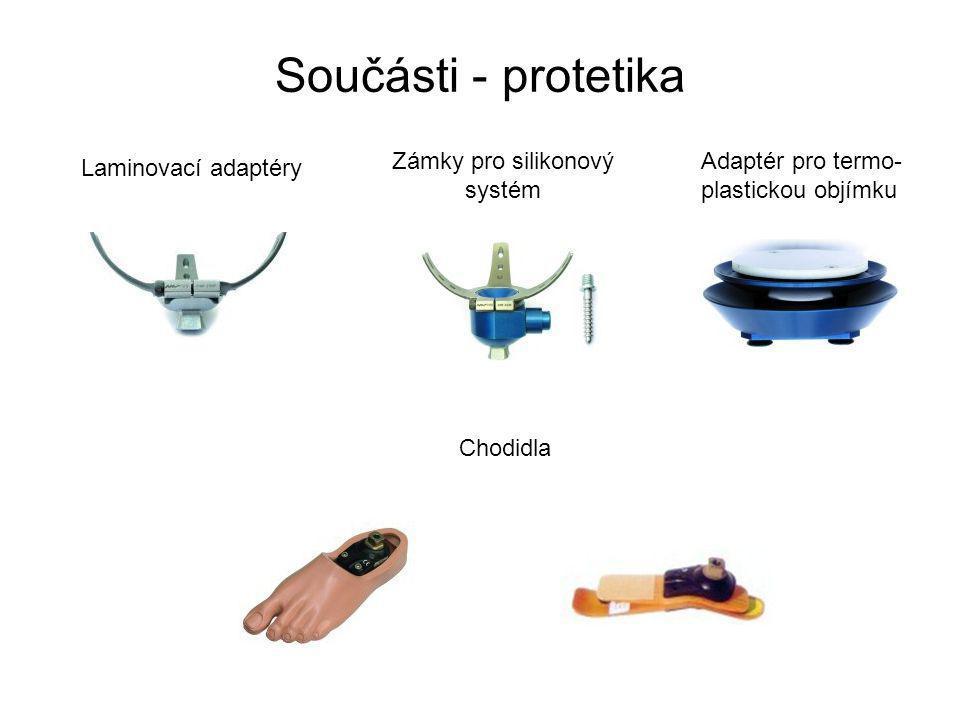 Součásti - protetika Zámky pro silikonový systém Adaptér pro termo-