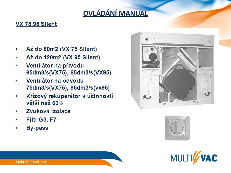 OVLÁDÁNÍ MANUAL VX 75,95 Silent Až do 80m2 (VX 75 Silent)