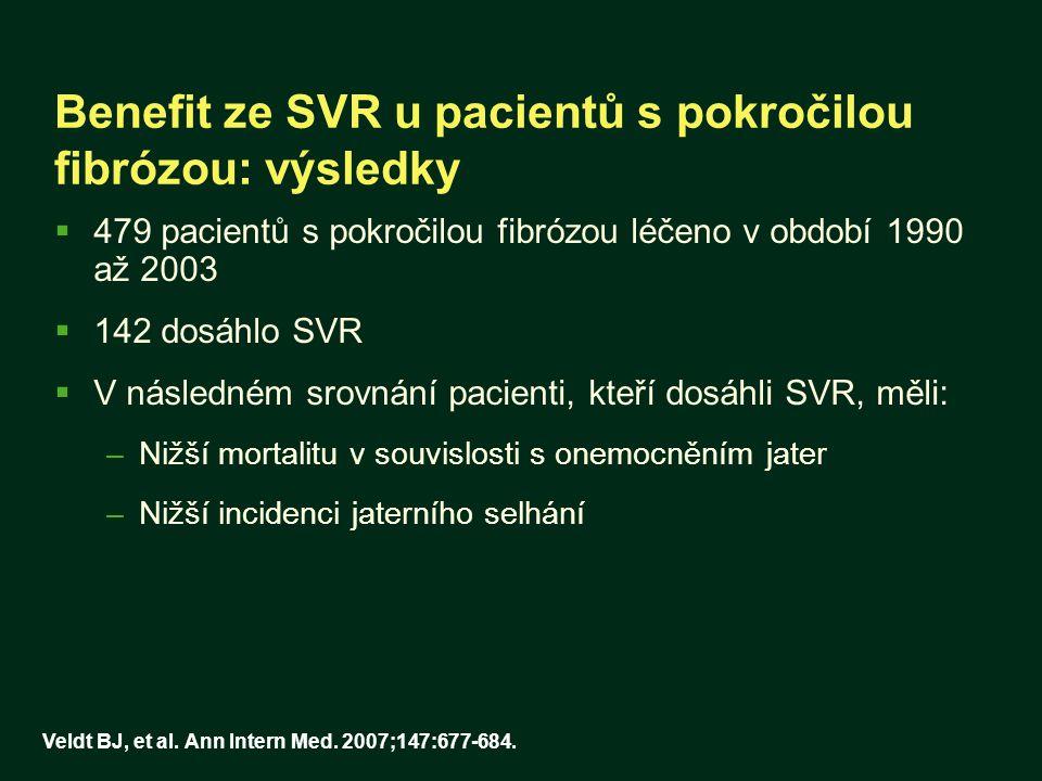 Benefit ze SVR u pacientů s pokročilou fibrózou: výsledky
