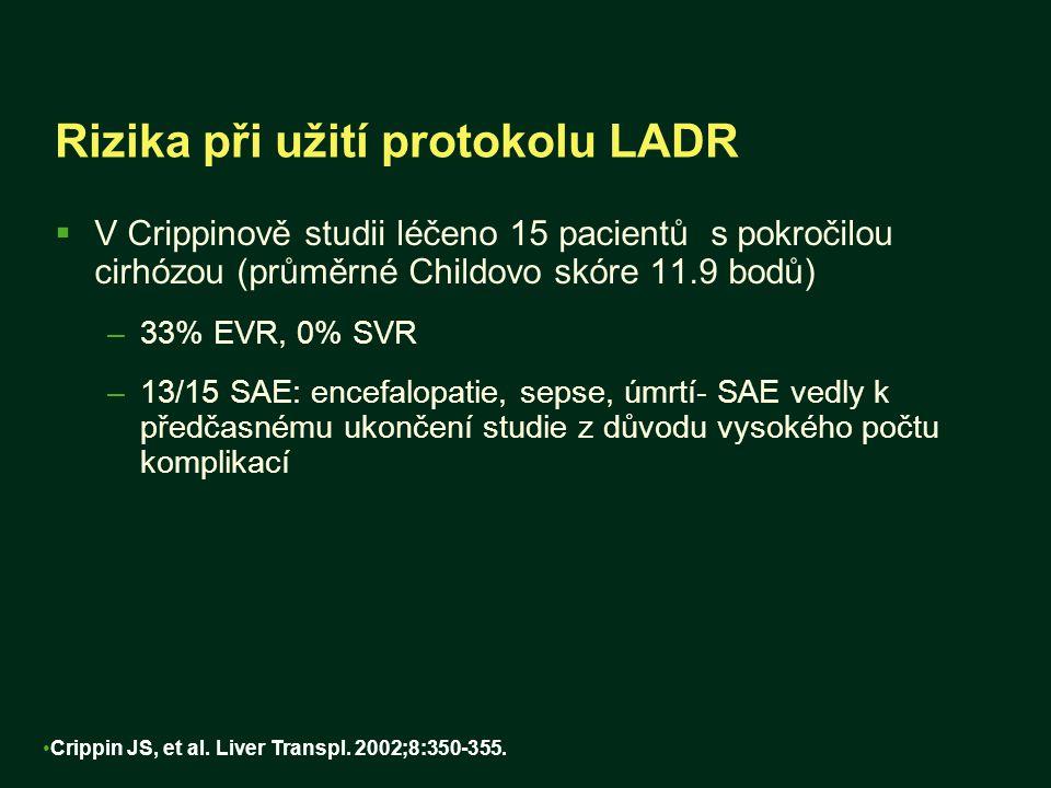 Rizika při užití protokolu LADR