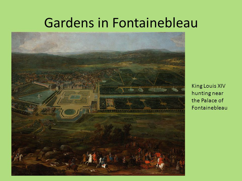 Gardens in Fontainebleau