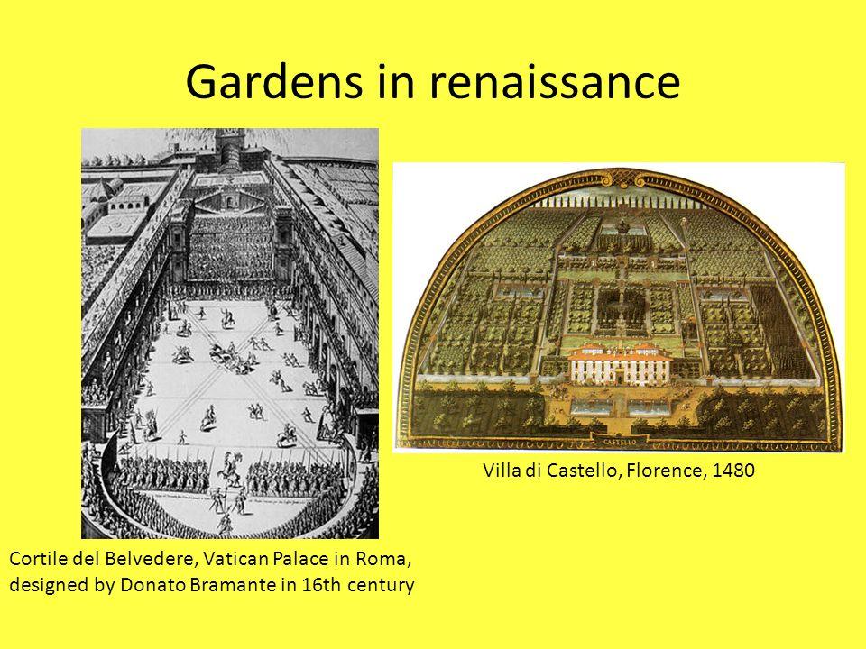 Gardens in renaissance