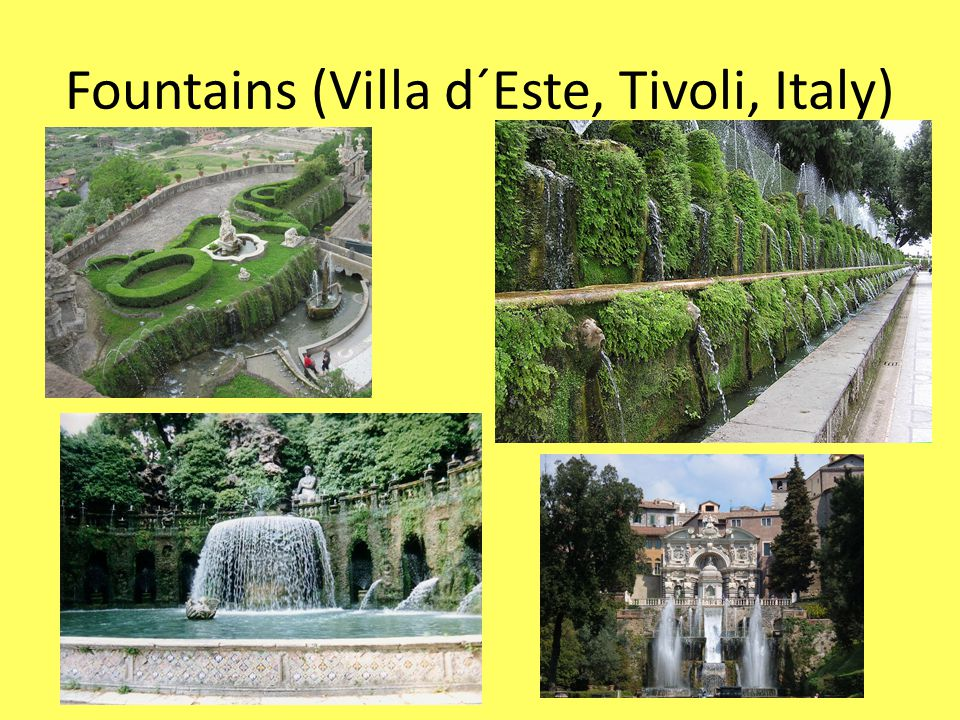 Fountains (Villa d´Este, Tivoli, Italy)