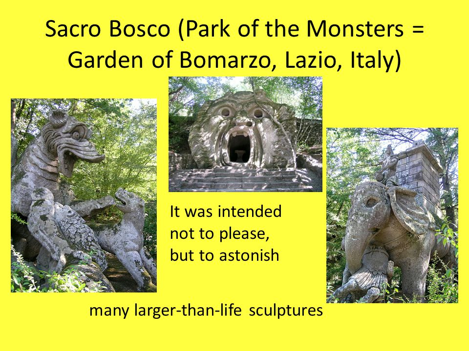Sacro Bosco (Park of the Monsters = Garden of Bomarzo, Lazio, Italy)