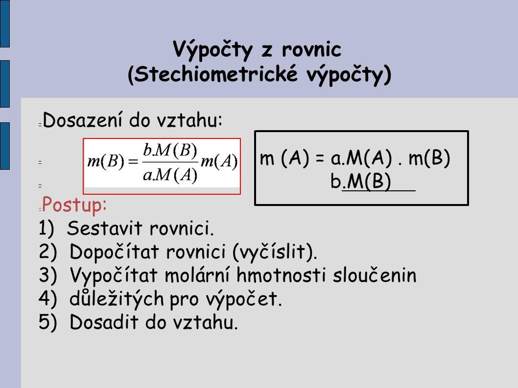 (Stechiometrické výpočty)