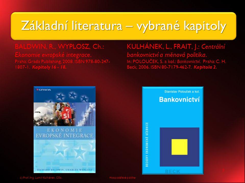 Základní literatura – vybrané kapitoly