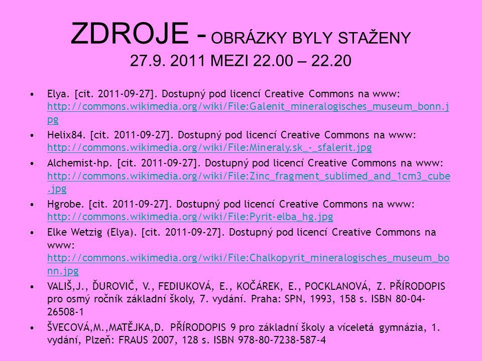 ZDROJE - OBRÁZKY BYLY STAŽENY 27.9. 2011 MEZI 22.00 – 22.20