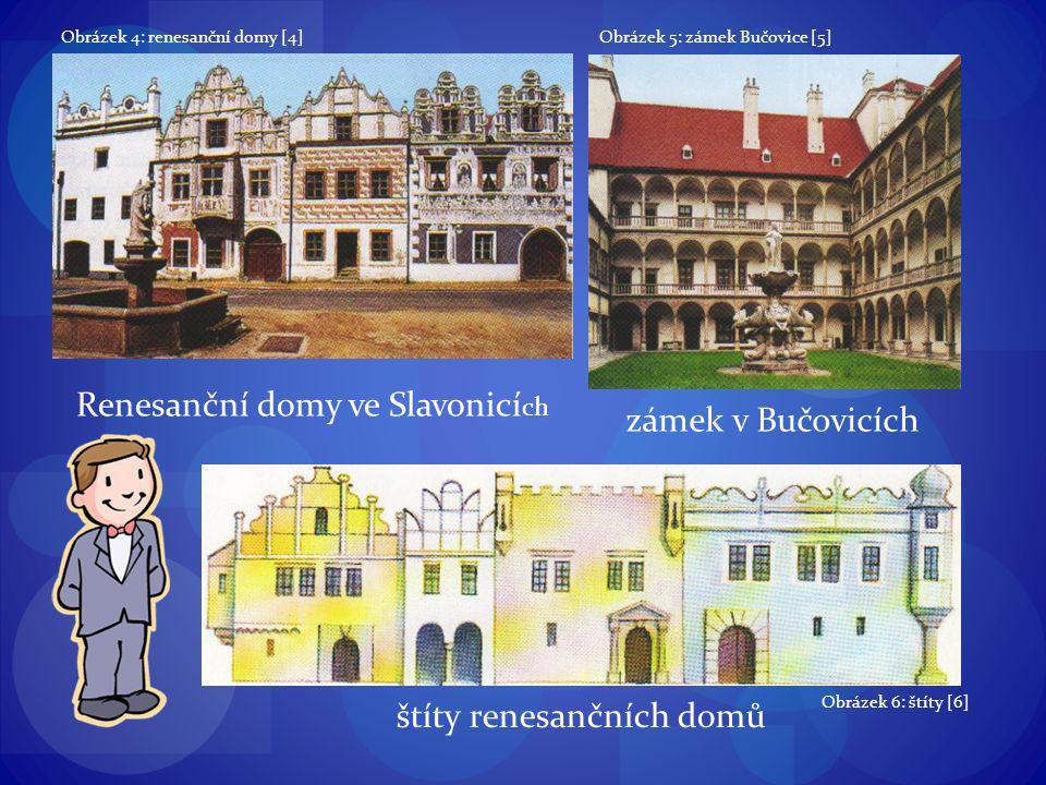 Renesanční domy ve Slavonicích zámek v Bučovicích