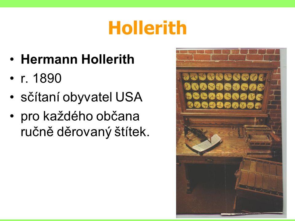 Hollerith Hermann Hollerith r. 1890 sčítaní obyvatel USA