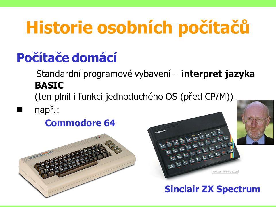 Historie osobních počítačů