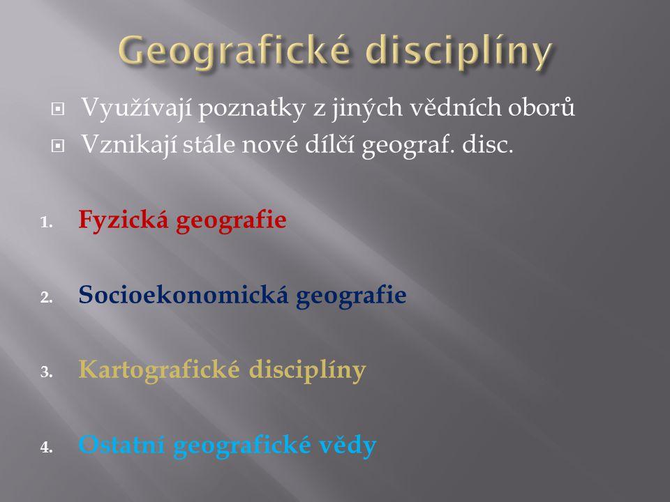Geografické disciplíny