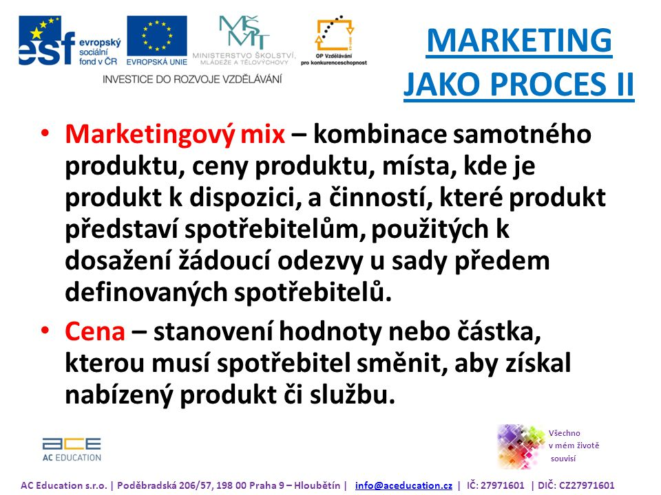 MARKETING JAKO PROCES II