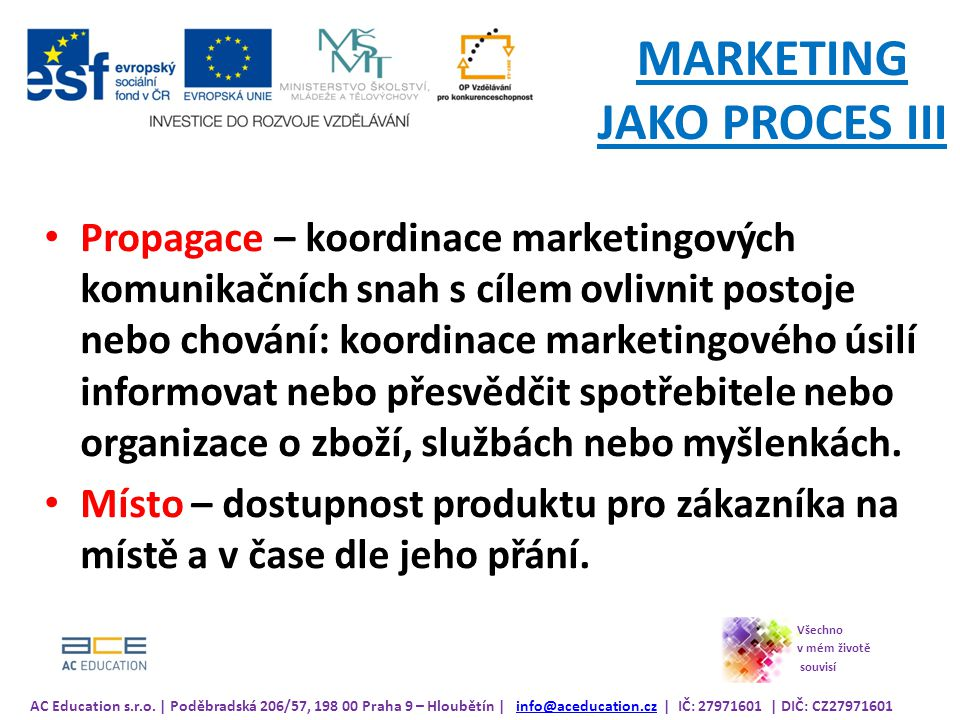 MARKETING JAKO PROCES III