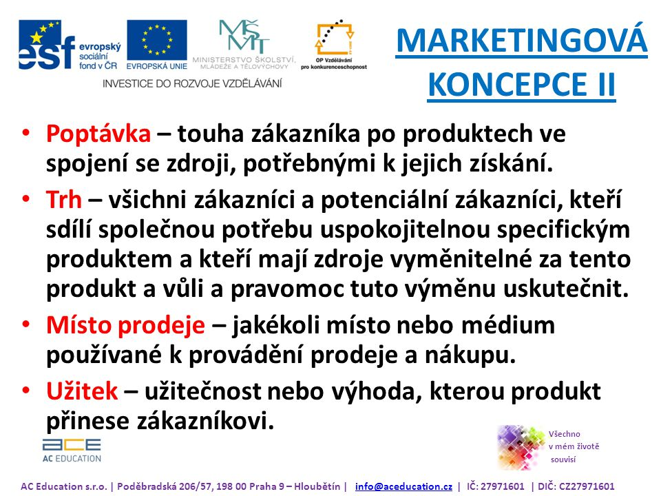MARKETINGOVÁ KONCEPCE II