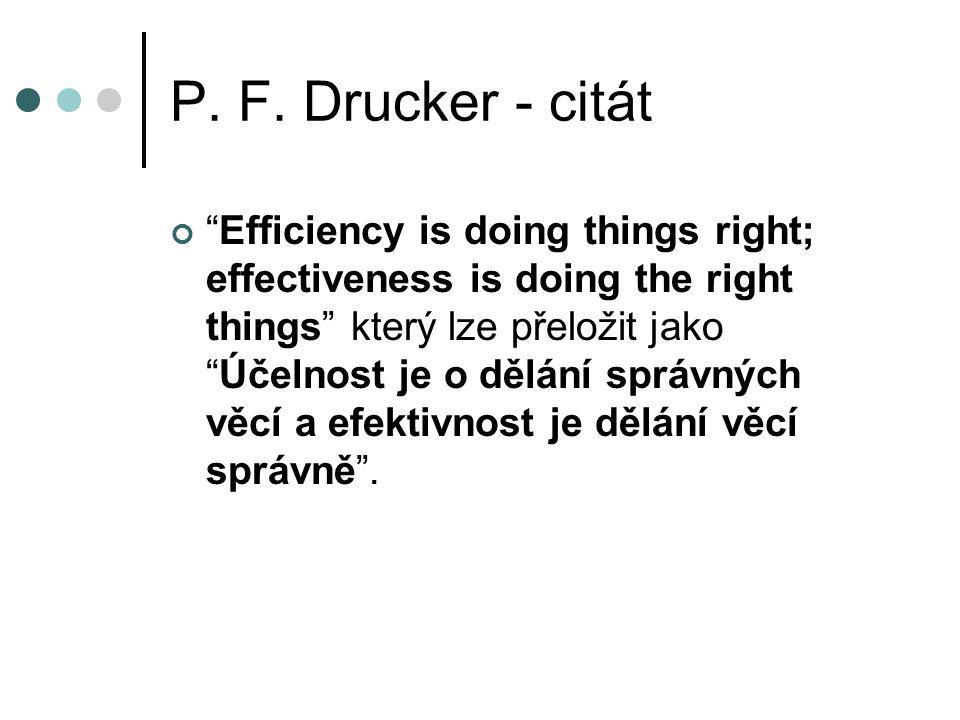 P. F. Drucker - citát