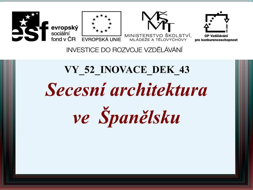 Secesní architektura ve Španělsku