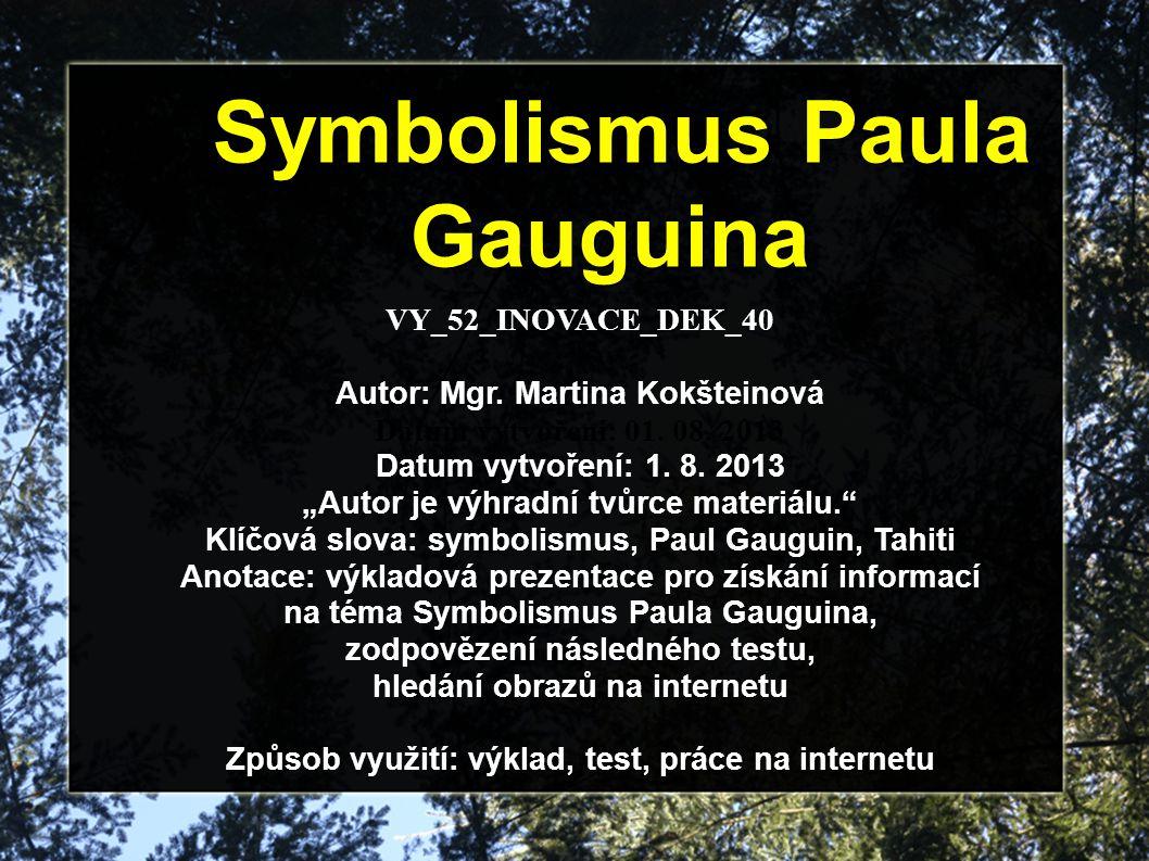 Symbolismus Paula Gauguina