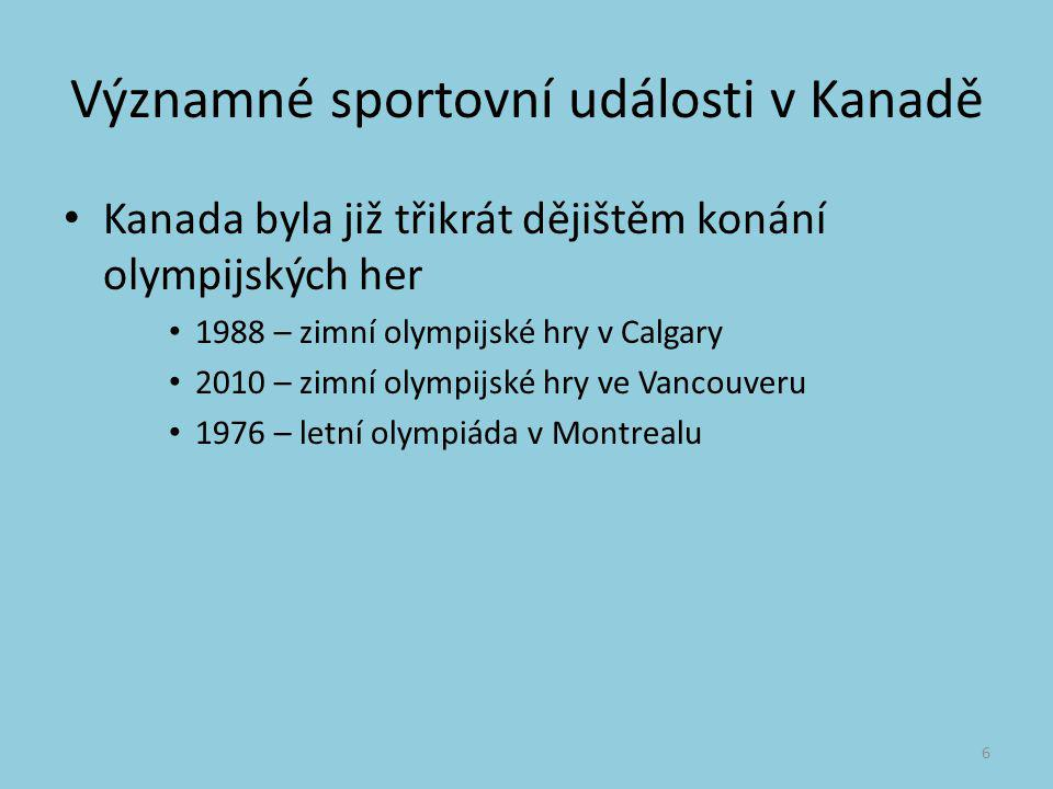 Významné sportovní události v Kanadě