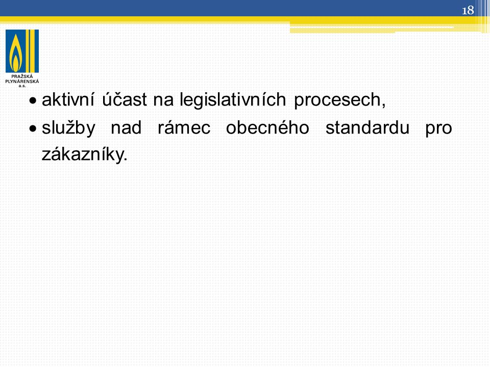 aktivní účast na legislativních procesech,