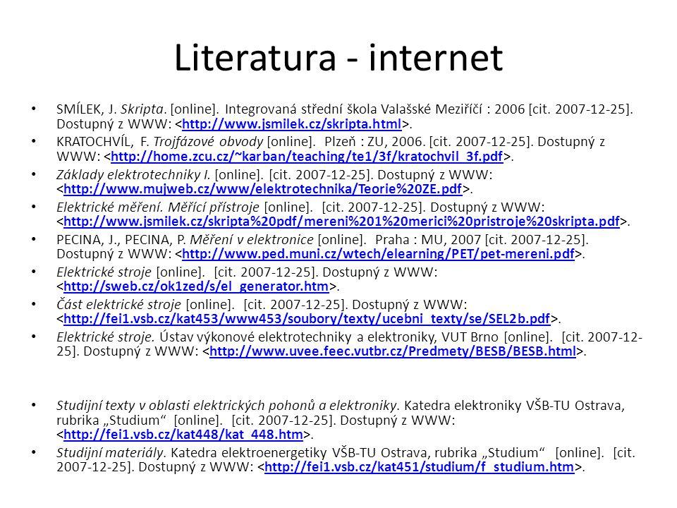 Literatura - internet